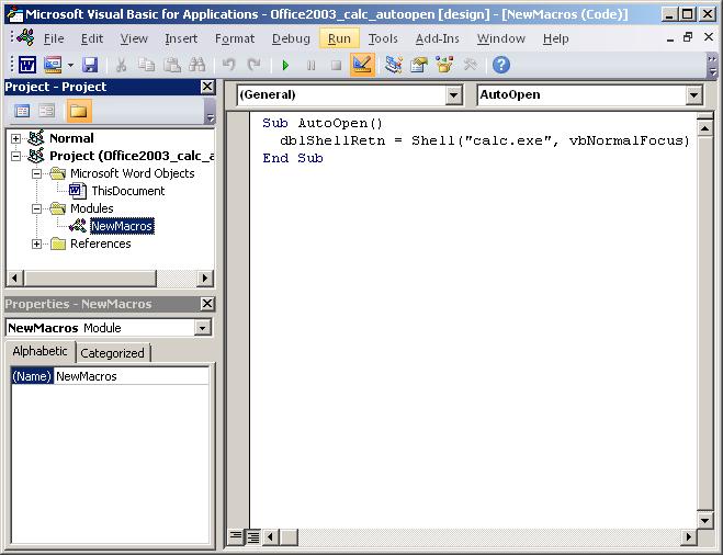 Detecting Malicious Microsoft Office Macro Documents